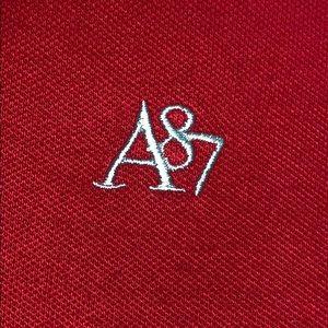 Aeropostale Tops - Aeropostale Red Collared Shirt